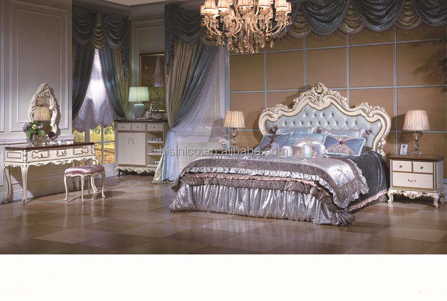 Letti Di Lusso In Pelle : Bisini furntiure camera da letto di lusso in pelle set antico royal