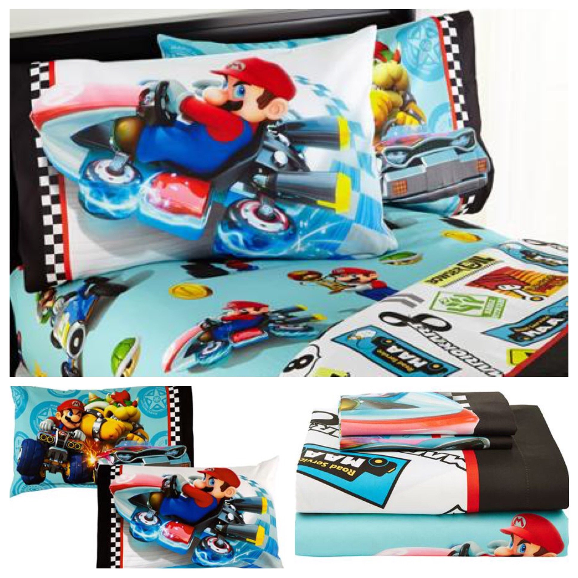 Nintendo Mario Kart Super Mario Bros Sheet Set - Full