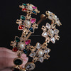 Broque High Quality Gemstone Crystal Flower Hair Accessories