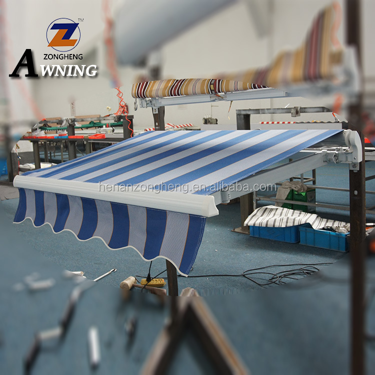 Factory price promotional simple non cassette manual retractable awning with hand crank