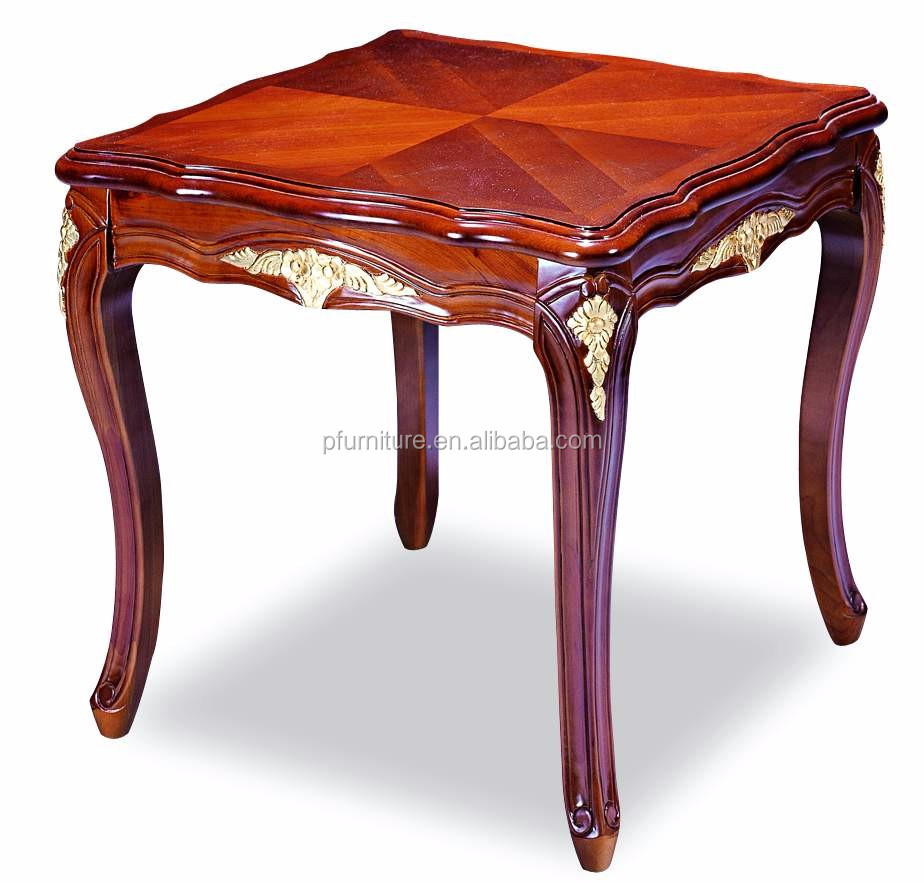 Hot Sale Solid Wood Carved Rectangular Coffee Table Pfd241