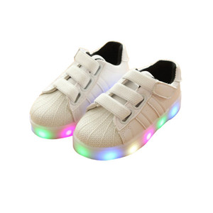 Children boys and girls luminous LED flash causal shoes