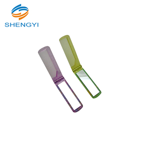 Multi function nylon tooth foldable travel comb