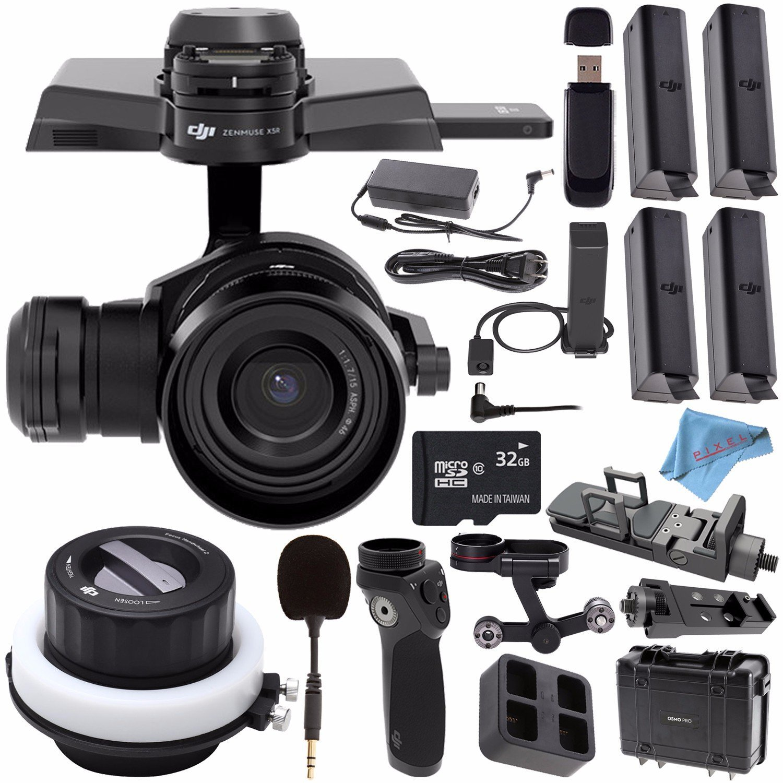 DJI Zenmuse X5R RAW Camera and 3-Axis Gimbal with 15mm f/1.7 Lens CP.BX.000098 + DJI M-15 FlexiMic Osmo Gimbal Camera + DJI Osmo X5 Adapter + DJI Osmo Battery + DJI Osmo Handle Bundle
