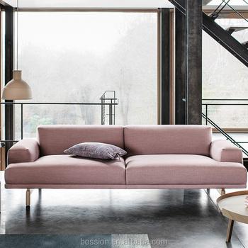 Office Sofa Pink Velet Fabric Set Designs