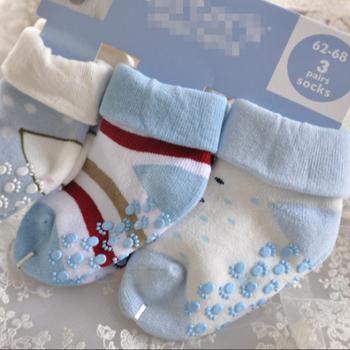 New Cotton Warm Baby Cartoon Print Socks Non Slip Thick Socks For