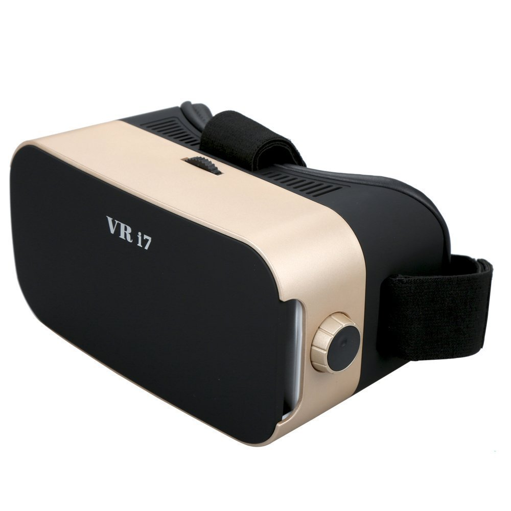VR Headset, VR Goggles 3D VR Glasses Virtual Reality Headset with Controller GUAN DAN VR Box for 3D Video Movies Games for Apple iPhone, Samsung Galaxy Note HTC Google Nexus LG More Smartphones