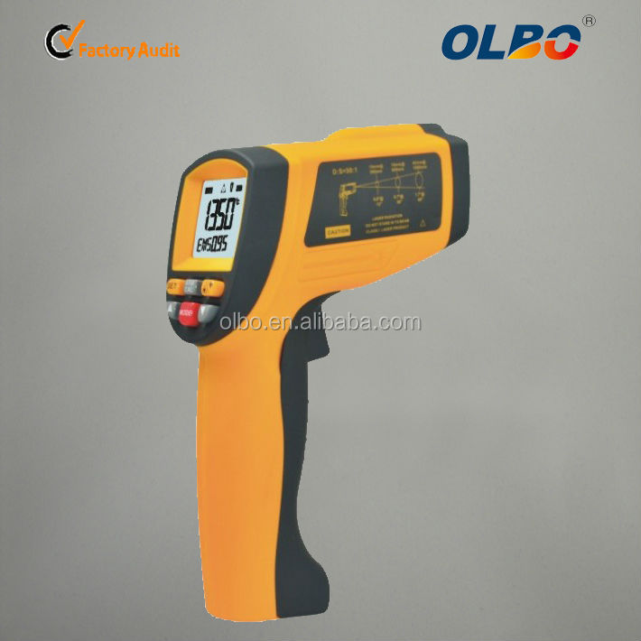 1350 Deg C high temperature handheld infrarouge pyrometer with laser