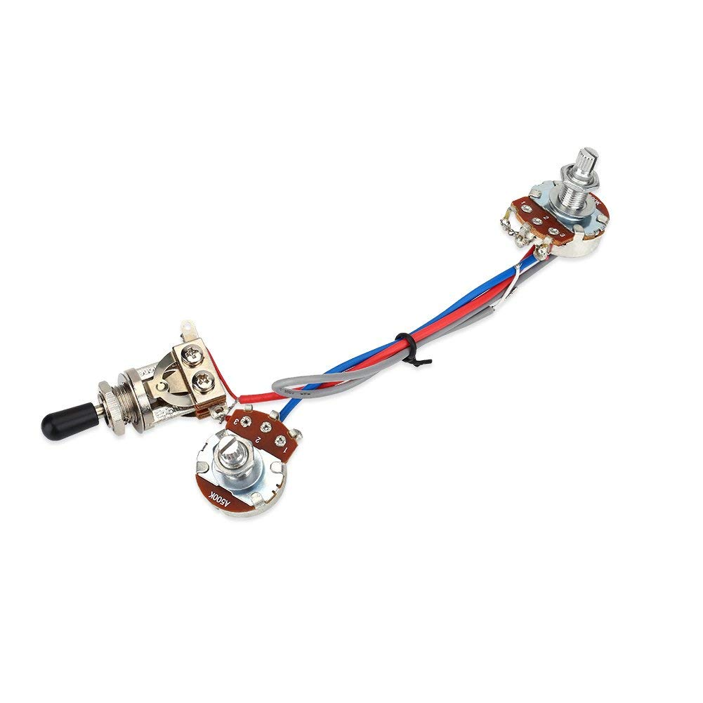 Details About New Guitar Wiring Harness Pickup 1v2t 5 Way Switch 500k