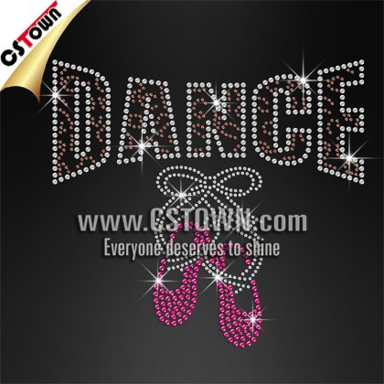 Dance shoes rhinestone wholesale high quality iron on crystal appliques