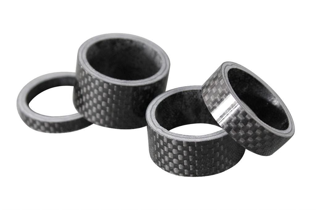 4pcs/lot Bicycle Washers 3K Carbon Road Bike MTB Bicycle Stem Headset Spacer 1-1/8in 28.6mm (5- 10-15-20mm/Lot)