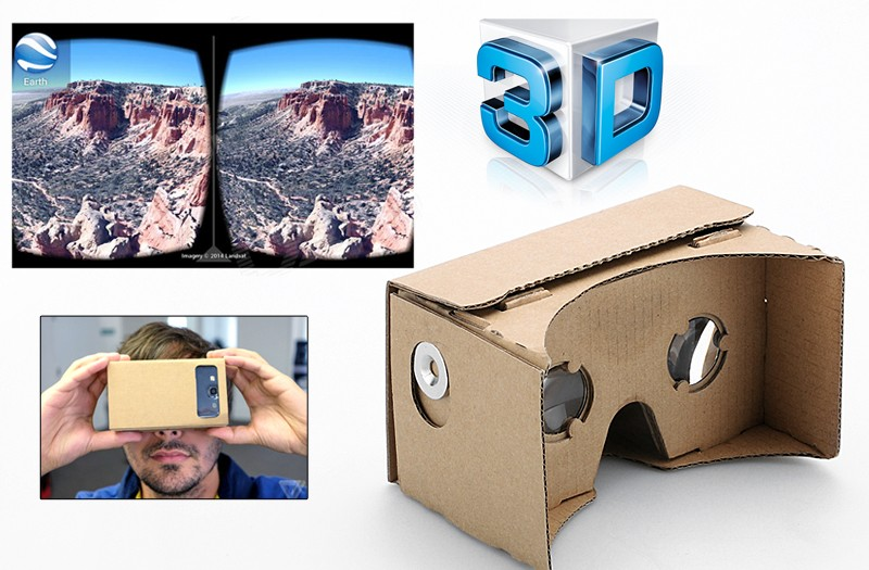 hot google cardboard 3d vr virtual reality glasses 3d headset head mount diy buy google. Black Bedroom Furniture Sets. Home Design Ideas