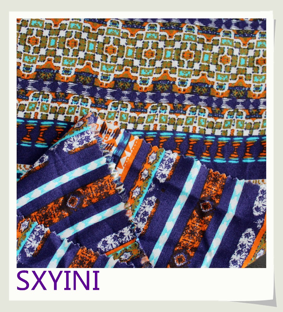 shaoxing India style new sample 100% viscose printed woven fabric