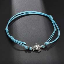 Huitan, богемные женские ножные браслеты, милые Подвески в виде черепах, цепочка для ног, с блестками, с кисточками, браслеты на запястье, оптова...(Китай)