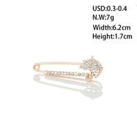 Main product gold plated rhinestones umbrella brooches manufacturer