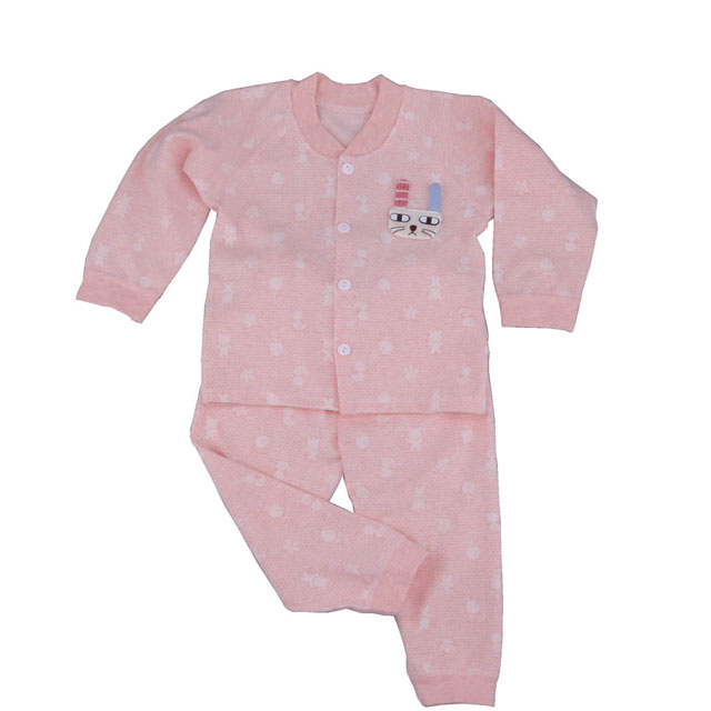 2Pcs Factory Baby Clothes Stock Good Quality 100% Cotton Newborn Baby Sleep Suit
