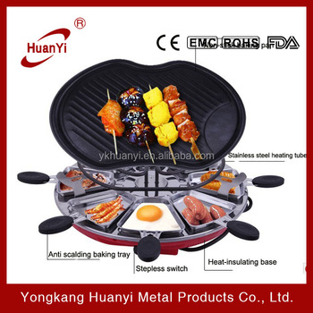 Cute Apple Shapped Non-stick Griddle Bbq Grill