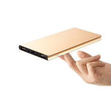 high real capacity super slim power bank 10000mah with LED light
