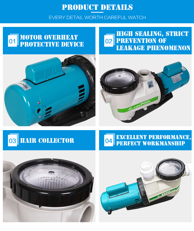 Guangzhou Fenlin Swimming Pool Equipment Variable Speed Electric Swimming Pool Pump 1 2 HP