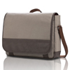 Casual canvas Faux Leather laptop Messenger Bag - Up to 15.6""