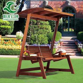 2016 Latest Outdoor Popular Reclining Outdoor Wooden Swing Chair