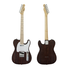 Factory price OEM China custom solid zebrawood 22 frets TL electric guitar