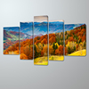 5 Panel Canvas Wall Art Mountain Autumn Landscape Painting Frame Picture Hotel Interior