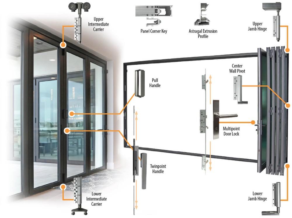 product-The Best Bi fold Doors Aluminum With Tempered Glass Folding Door Interior-Zhongtai-img-1