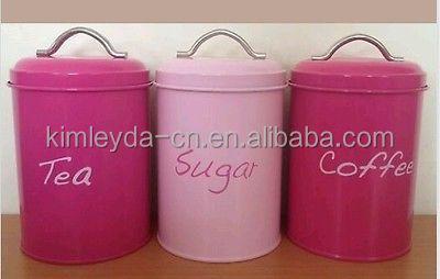 3 Set Kitchen Canister Storage Set Tea Coffee Sugar Jars Red Buy Tea Coffee Sugar Tin Storage