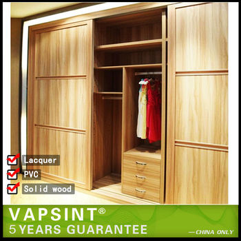 Indian Lower Price Modular Bedroom Closet Wood Wardrobe Cabinets