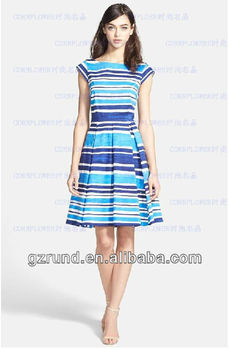 Ks Skirt New Fashion Ladies Striped Batik Casual Dresses China Wholesale Design For Woman Model 745 Buy Fashion Ladies Striped Dresses Ladies Formal