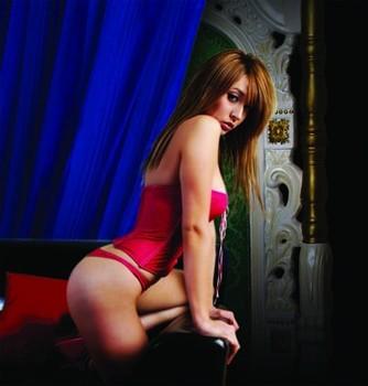 Sexy naked happy birthday woman
