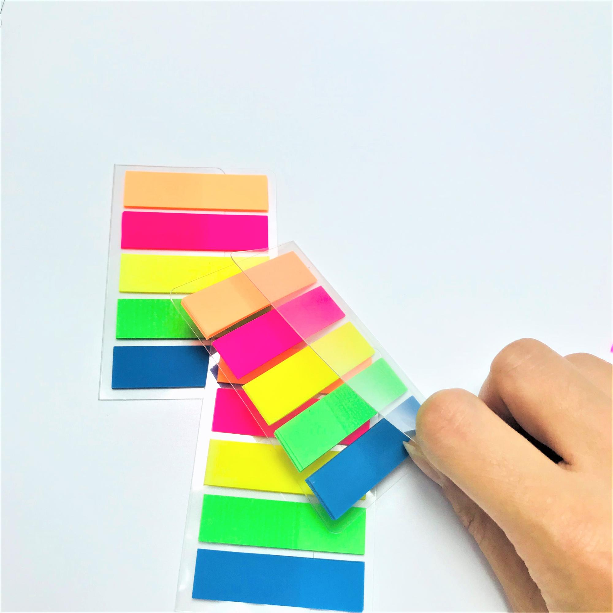 PET Fluorescent Color Plastic Sticky Notes