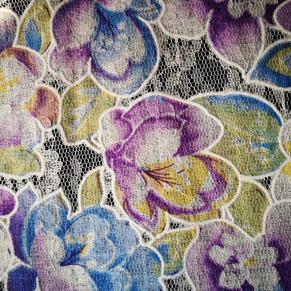 cheapest china mill print designer textiles custom lace fabric