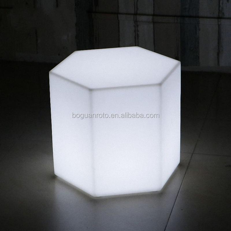 Plastic Bar Furniture Led Rubik Cube Chair Lighted Fidget