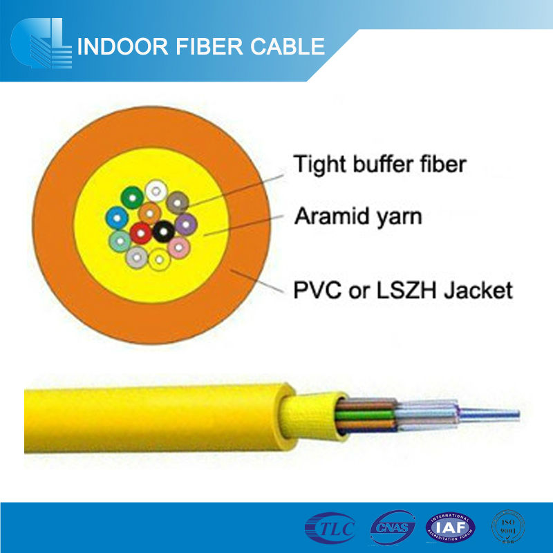 Indoor 12 Core Fiber Optic Cable Price Distribution Indoor