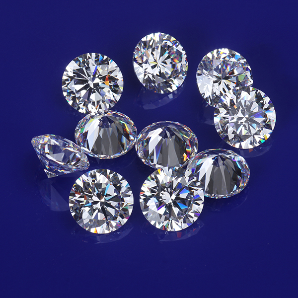 High Quality Kinds Of Size  White CZ  Diamond Round  Loose Stones Cubic Zirconia For Ring Jewelry