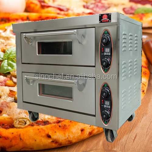 Double Deck Electric Baking Oven with wheels for small bakery