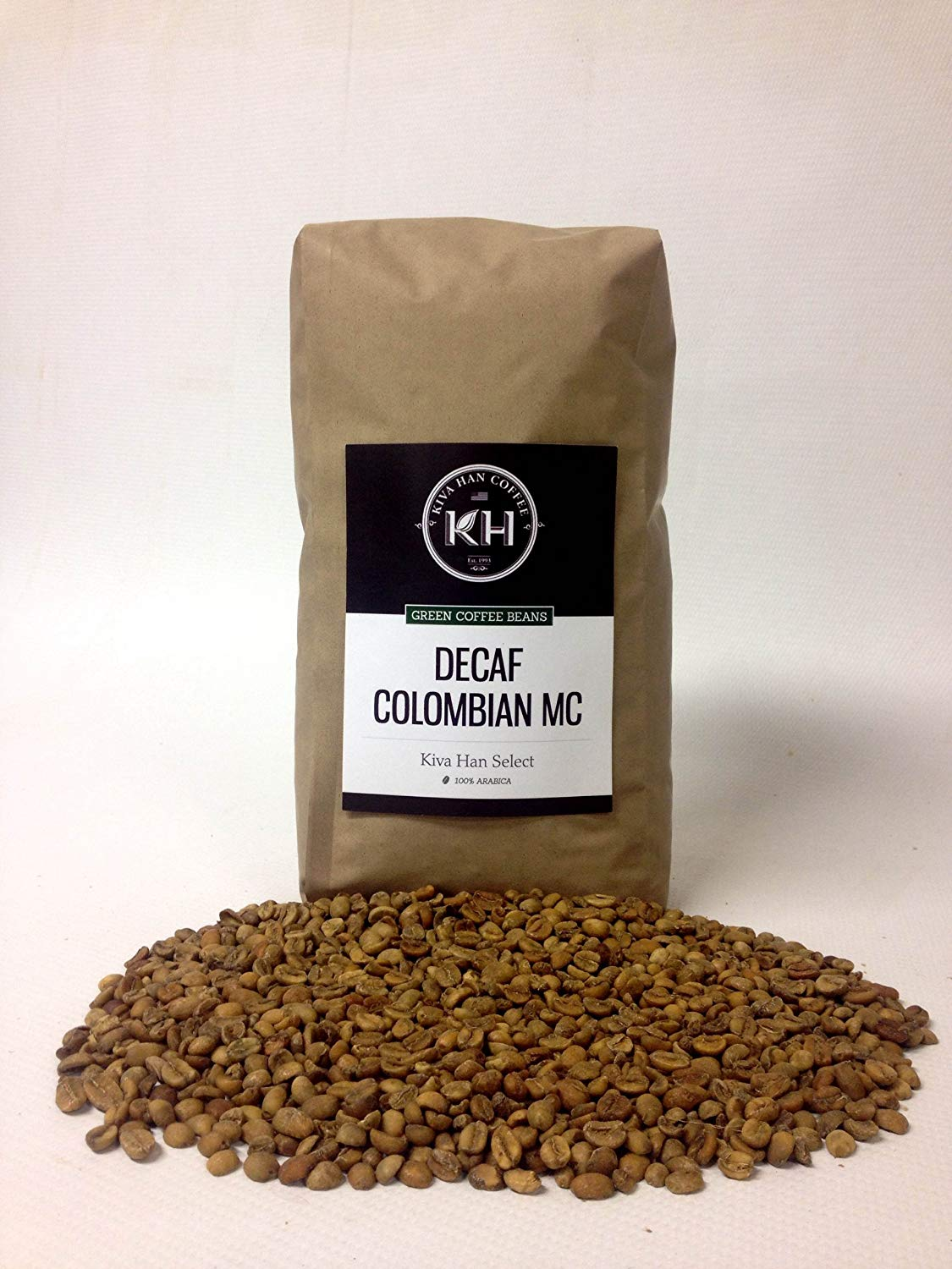 Decaf Colombian MC Green Unroasted Coffee Beans, 5 Lb Bag