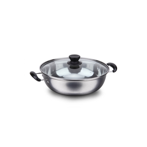 Wholesale Induction Cooker Stainless Steel Hot pot with Glass Cover