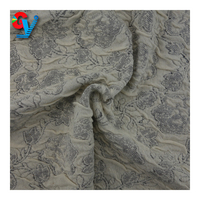 polyester cotton spandex knit jacquard tshirt fabric for dress