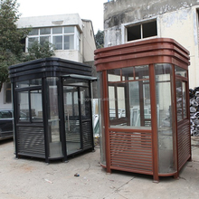 Kinying brand Outdoor galvanized steel kiosk cabins portable guard booth houses
