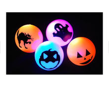 Halloween scary flashing rubber ball