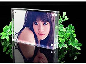 "Standing Magnetic Clear Acrylic Perspex Photo Frames Block(4x6"")"