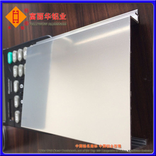 Clear Anodized and Polished Aluminum Toilet Partition for Decoration