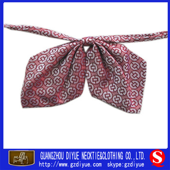 Fashion Red Self-tie Bow Ties Silk Bowtie With Logo For Lady