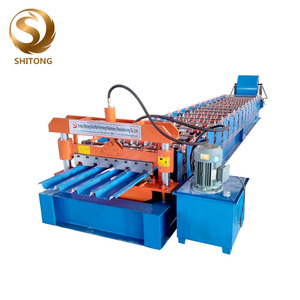 Used metal roof tile panel sheet rolling roll forming machine
