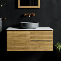Modern Fashionable Handleless Bathroom Vanity with Mirror and Drawer