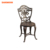 Round bronze cast aluminum table and chair outdoor dining set 5 pc patio furniture