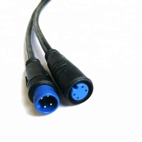 4pin Male and Female Waterproof Connectors wire cable at Both Ends for RGB Multi-color LED Deck Light